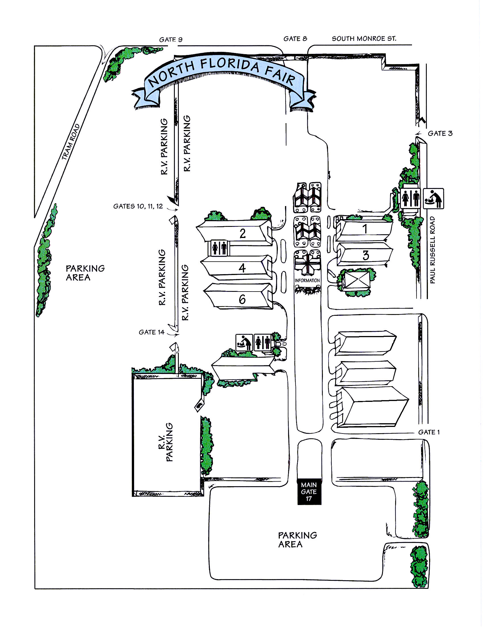 North Florida Fair Vendor Map